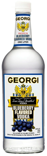Georgi Vodka Blueberry 1.00l - Case of 12